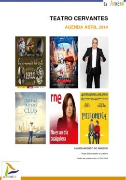 Programa Teatro Cervantes Abril 2014