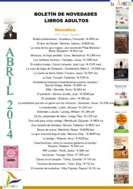 Novedades Biblioteca abril 2014