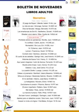 Novedades Biblioteca mayo 2014