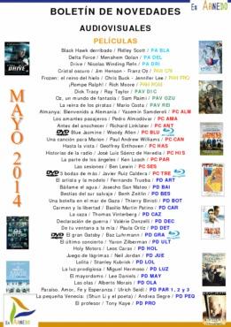 Novedades Biblioteca audiovisuales mayo 2014