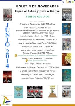 Novedades Biblioteca tebeos junio 2014