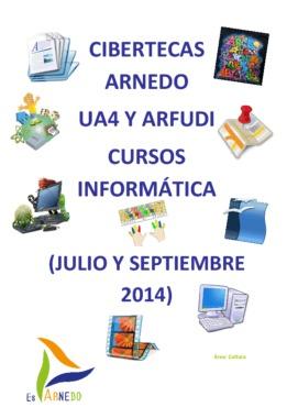 Oferta formativa de las Cibertecas municipales: Julio a septiembre 2014.