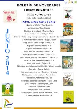 Novedades Biblioteca infantiles junio 2014