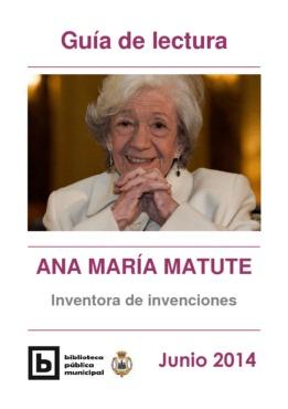 Guía de lectura Ana María Matute