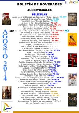 Novedades Biblioteca audiovisuales agosto 2014