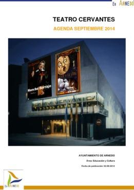 Programa Teatro Cervantes Septiembre 2014