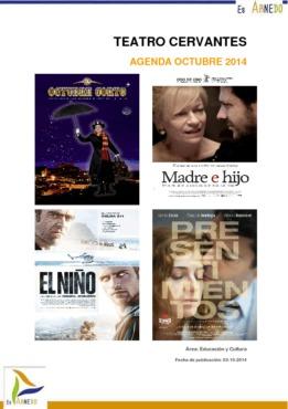 Programa Teatro Cervantes Octubre 2014