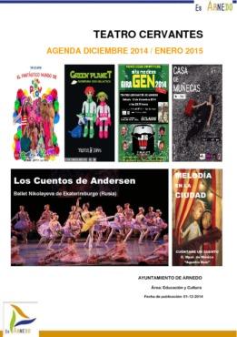 Programa Teatro Cervantes diciembre 2014 y de la primera quincena del 2015