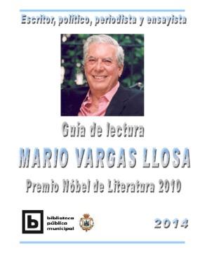 Guía de Lectura Mario Vargas Llosa