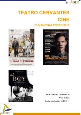 Programa de cine segunda quincena de enero de 2015.