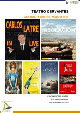 Programa Teatro Cervantes febrero y marzo del 2015