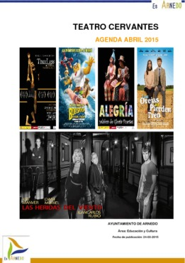 Programa Teatro Cervantes Abril 2015