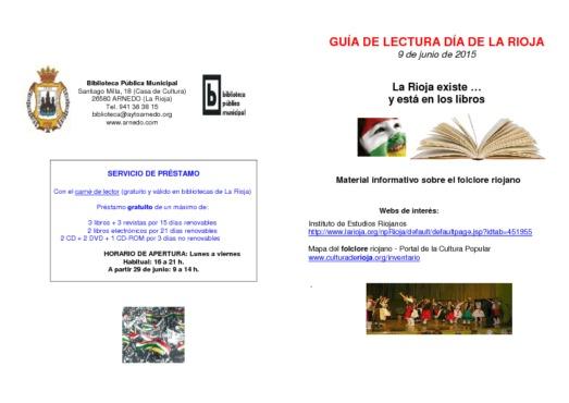 La Rioja existe...y está en los libros: material informativo sobre el folclore riojano
