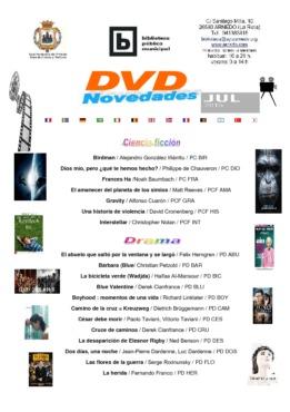BIBLIOTECA Boletín novedades VIDEOS julio 2015