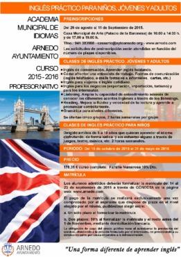 Oferta Educativa Academia Mpal. de Idiomas 2015-2016