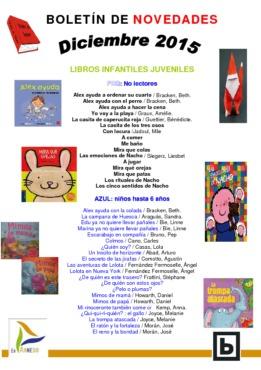 Biblioteca Municipal BOLETÍN INFANTIL NOVEDADES diciembre 2015