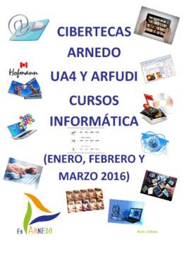 Cursos de Formación en las Cibertecas Municipales: enero a marzo de 2016.