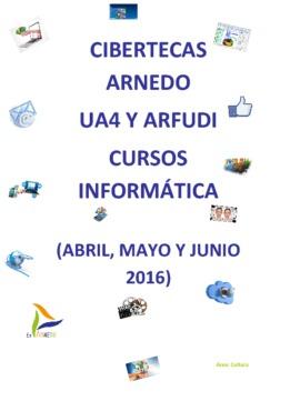 Cursos de Formación en las Cibertecas Municipales: de abril a junio de 2016