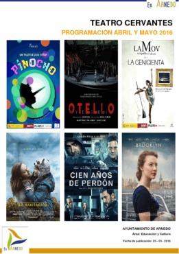 Programa Teatro Cervantes Abril-Mayo 2016