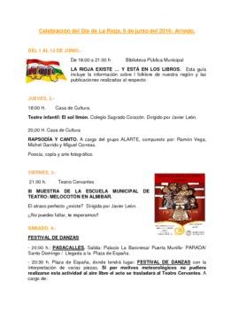 Programa Día de La Rioja 2016
