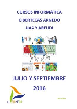 Cursos julio y septiembre de las Cibertecas municipales.