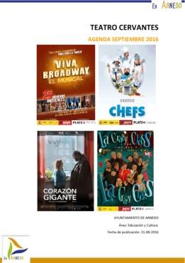 Programa Teatro Septiembre y 1 de Octubre 2016