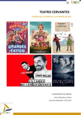 Programa Teatro Cervantes del 12 de enero al 11 de marzo