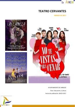 Programa Teatro Cervantes Marzo 2017
