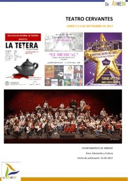 Programa Teatro Cervantes Junio y 2-3 de Septiembre del 2017