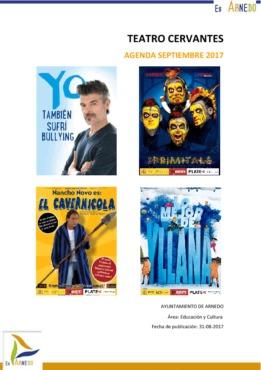 Programa Teatro Cervantes Septiembre y 1 de Octubre de 2017